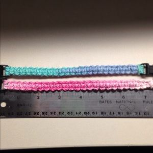 Jewelry - Ombre spring color Paracord style bracelets.
